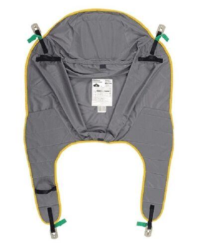 Joerns Hoyer 4-Point Clip Style Poly Comfort Sling Yellow Trim Medium 125-200 lb