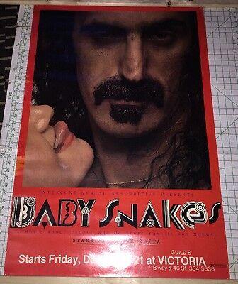 Original Frank Zappa POSTER Baby Snakes PROMO