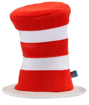 Cat In The Hat Licensed Red & White Stripe Top Hat One Size](Cat In The Hat Top Hat)