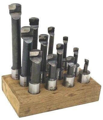 Hot New 58 Boring Bar Set 12 Pcs Carbide Tipped 58 Shank Lathe Tool C6