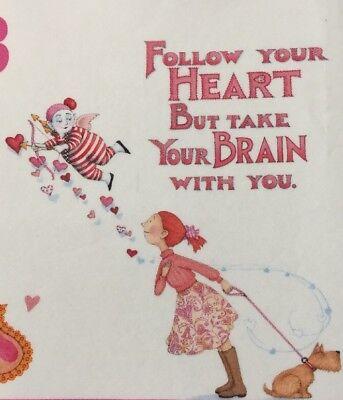 Mary Engelbreit Artwork-Follow Your Heart-Handmade  Magnets - Heart Magnets