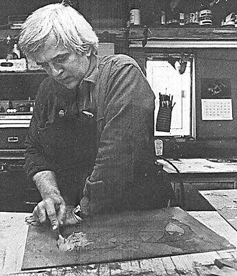 "Richard Kemble original oil pastel drawing ""nantucket moors"""