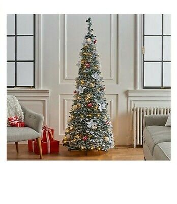 Barbara King 6' Pre-Lit Decorator Pop Up Tree w/ PoinsettiasGreen/White/Red