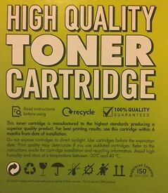 Yellow Laser Toner Cartridge Q3962A-compatible for HP LaserJet 2550 & Canon LBP 5200. Sealed/Unused