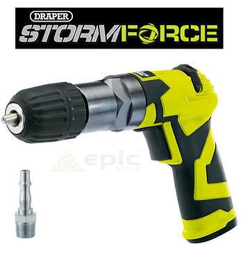 """DRAPER Reversible Air Drill Screw Driver 10mm Chuck 1/4"""" BSP Compressor 65138"""