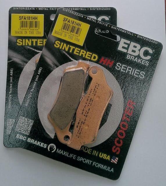 Piaggio X9 500 (2003 to 2007) EBC Sintered FRONT Brake Pads (SFA181HH) (2 Sets)