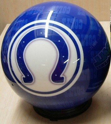 = 16 Bowling Ball Otb Viz-a-ball Nfl Rare 2010 Indiannapolis Colts