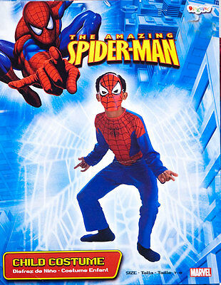 DISGUISE BOYS SIZE 7-8 THE AMAZING SPIDER MAN HALLOWEEN COSTUME SPIDERMAN 7  8](Amazing Halloween Costumes For Boys)