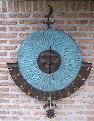 Bronze Große Wand (Bronzeskulptur große Sonnenuhr Wanddekoration Gartendeko)