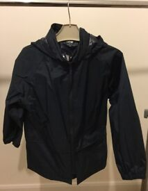 John Lewis lightweight jacket, with hood. Navy blue. 7/8 years.