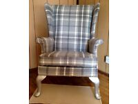Vintage Parker knoll Wingback/Fire side arm chair*re-upholstered