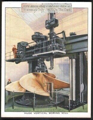 Huge Vertical Boring Mill Heavy Large Diameter Hole Drill C80 Yo Trade Ad Card