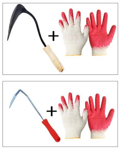 Korean garden hand tool. HOE. Garden plow. weeding sickle. Korean HOMI.