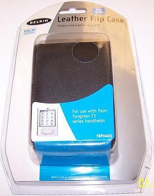 NEW Belkin Leather Flip Case for Palm Tungsten T3 PDA Handheld PalmOne F8P0401 (Belkin Leather Pda Case)