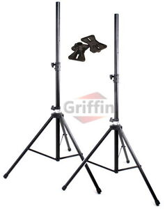 175lb Load Pair PA Speaker Monitor Stage Stands on Tripod Pro-Audio Mount DJ 2