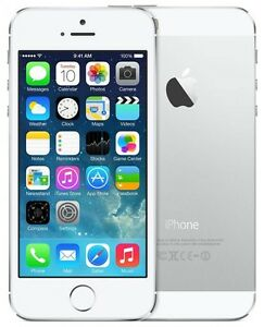 Apple iPhone 5S Silver 16GB in Excellent Condition (Bell/Virgin)
