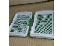 REDUCED 2 X PUPPY TRAINING TRAYS 5.00