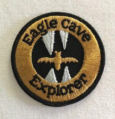 Eagle Cave Explorer Patch Vintage Souvenir Wisconsin Travel