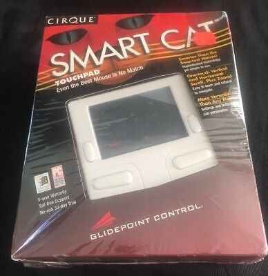 Adesso Cirque Smart Cat 4 Button Glidepoint Touchpad GDB410 Serial PS/2 NOS 2 Button Ps/2 Glidepoint Touchpad