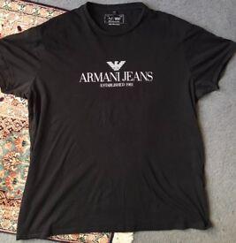Original Armani Mens Black T-Shirt XL