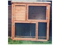 Quality made 4ft by 2 double decker rabbit hutch