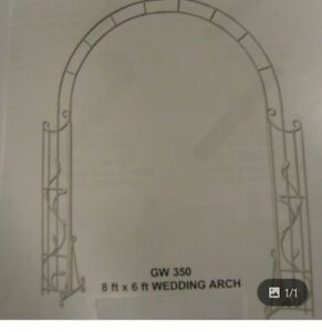 Wedding or garden arch white