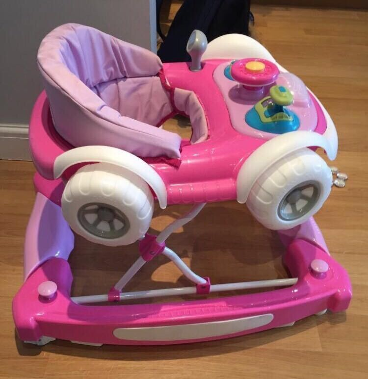 MyChild coupe car baby walker pink