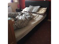 Double bed + double mattress!