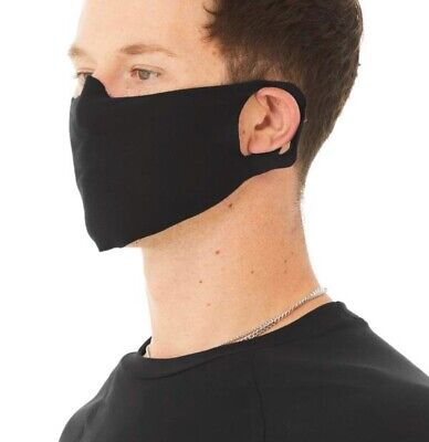 Black Face Mask Facemask washable breathable cotton Made IN USA FREE SHIPPING