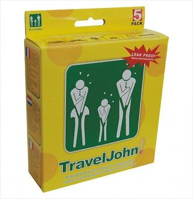 Traveljohn Disposable 5 Pack Vomit Urine Bag For Children And Adults  New