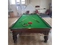 Snooker Table, George Wright & Co, Lots of accessories, Antique piece, buyer to collect