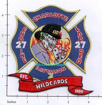 North Carolina - Charlotte Station 27 NC Fire Dept Patch - Wildcards