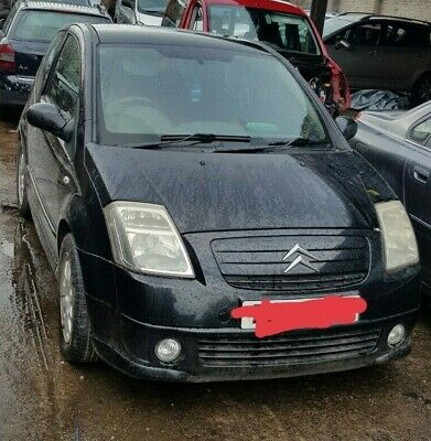 CITROEN C2 2002 BREAKING   BLACK   HEADLIGHT   ALL PARTS AVAILABLE