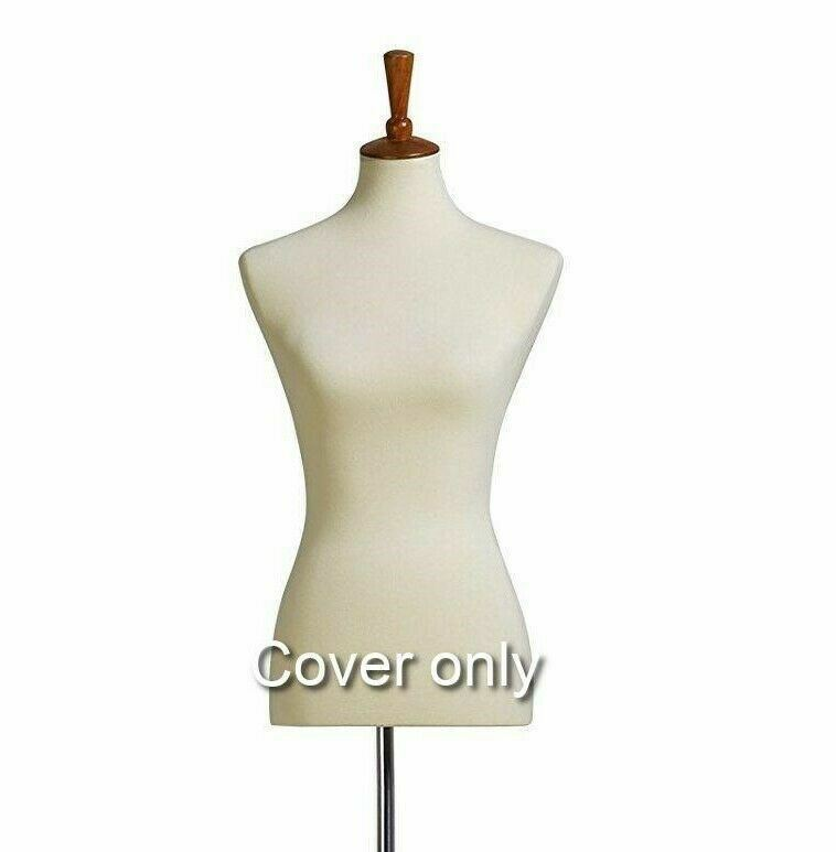 Beige Stretchy Half Body Mannequin COVER Female Dress Form Cover  Beige