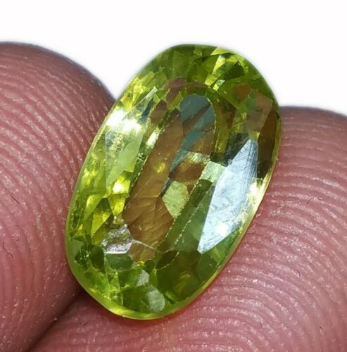 Natural Peridot Loose Gemstone 7.80 Cts Certified With Free Shipping
