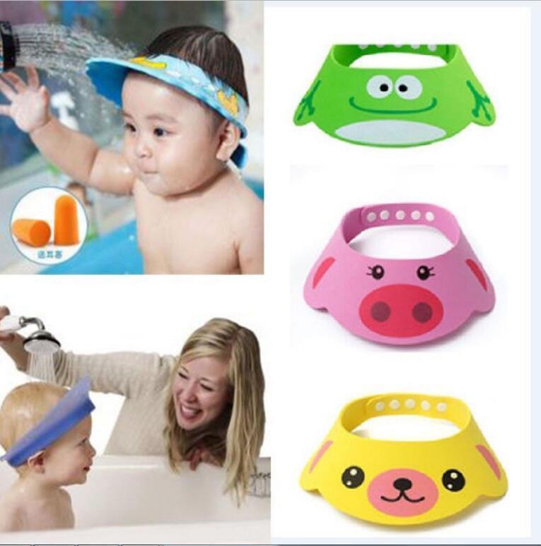 Adjustable Baby Kids Shampoo Cap Bath Hat Bathing Hair Shiel