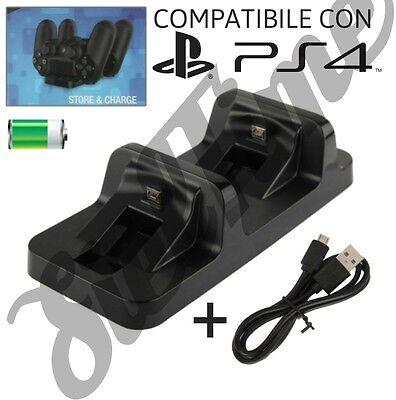 PS4 BASE DI RICARICA DUAL CHARGING DOCK PER CONTROLLER WIRELESS DUALSHOCK 4 USB