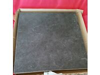 Grey Cuba floor tiles x4 tiles only measuring 32.5cm2 each tile