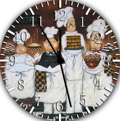 Chefs Kitchen Dining room Wall Clock Frameless Silent Nice Gifts or Decor G60
