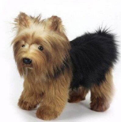 10 Inch Handcrafted Yorkshire Terrier Dog Plush Stuffed Animal by Hansa