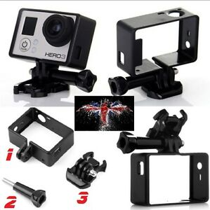 GoPro 4/3+/3 Cadre de montage Accessoires Cover+Support 100%NEUF