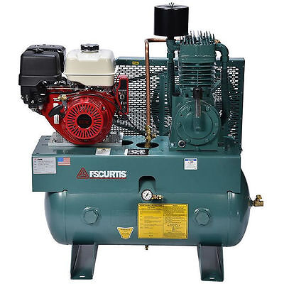 FS-Curtis CT13-H 13-HP 30-Gallon Two-Stage Truck Mount Air Compressor w/ Elec...