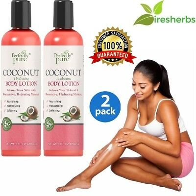 (COCONUT BODY LOTION Hydrating Nourishing Moisturizing Softening SKIN CARE 16 oz)