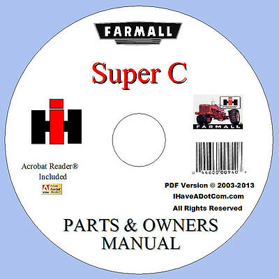 Farmall Super C Parts Owners 2 Manuals Catalog