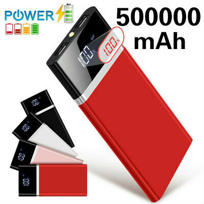 LCD Digital LED 500000mAh Portable Power Bank Dual-USB External Battery Charger