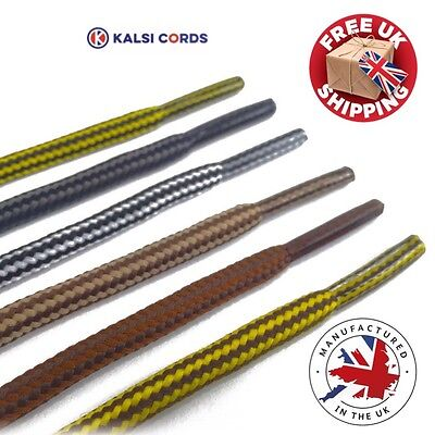 ROUND ROPE SHOELACES WITH STRIPE FOR TIMBERLAND BOOTS HIKING STRONG SHOE LACES