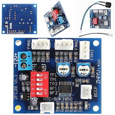 Fan-controller (12V PWM PC CPU Fan Temperature Control Speed Controller Module High-Temp Alarm)