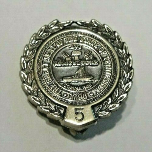 THE GREAT SEAL OF THE GREAT STATE OF TENNESSEE ~ COMMERCE ~ STERLING SILVER PIN