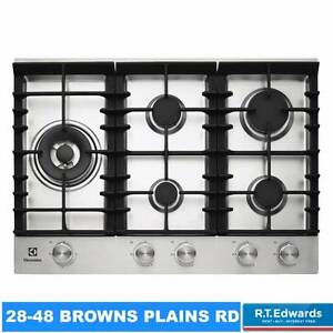 Electrolux 75cm Stainless Steel Gas Cooktop with Wok Burner Browns Plains Logan Area Preview