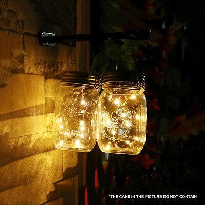 10LED Solar Mason Jar Licht Deckel Leuchtet Hochzeit Party Outdoor /Indoor Décor ()